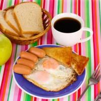Anglická snídaně lahodí oku