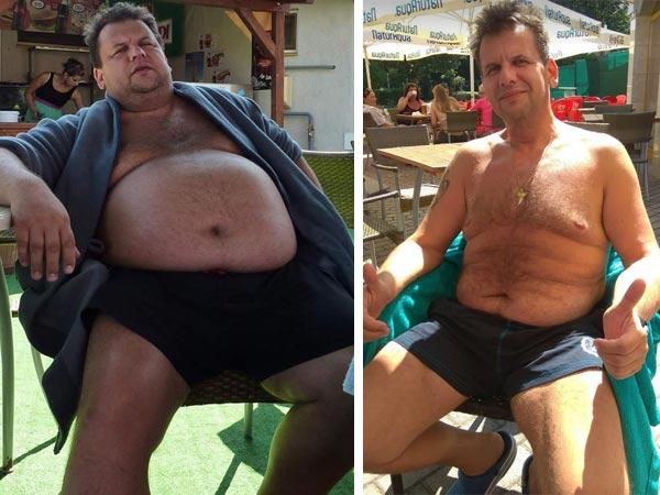 Ukázka jídelníčku muže, jenž během roku sundal 60 kg s pomocí aplikace Kalorické tabulky