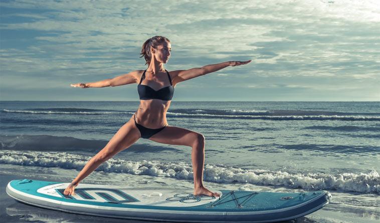 ilustrační foto: paddle jóga
