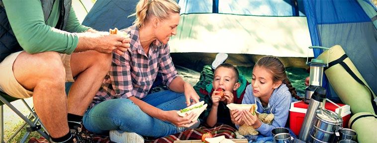 Jak si užít dovolenou nejen pod stanem a nepřibrat?