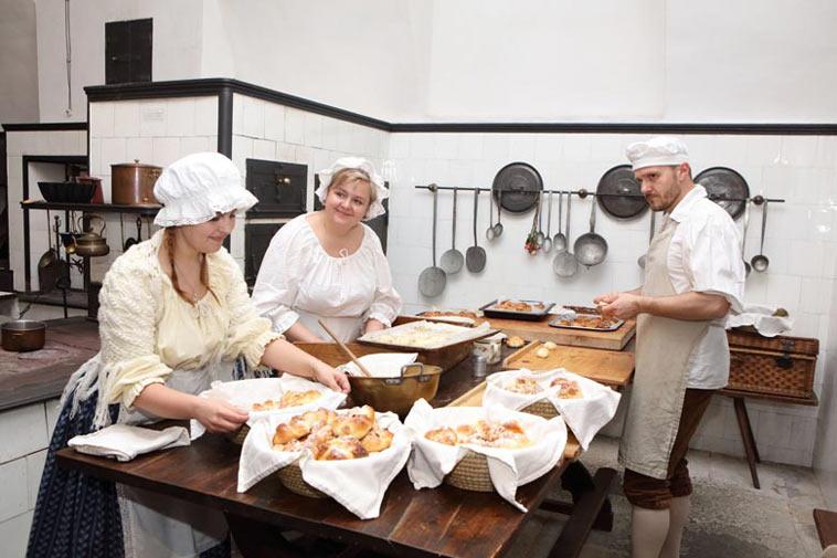 kuchyně na zámku