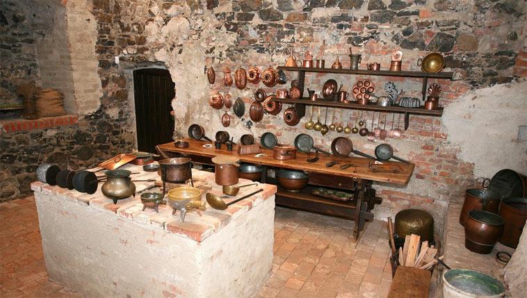 Vodní hrad Švihov - kuchyně