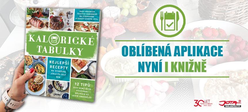 Kniha Kalorické Tabulky je na světě! Najdete v ní jednoduché recepty, rady odborníků a proměny uživatelů oblíbené aplikace