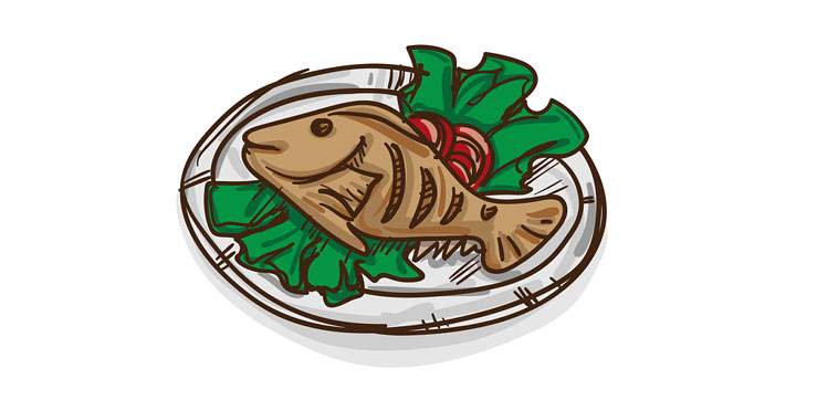 ryby mají malé množství tuku